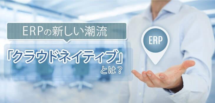 ERPの新しい潮流「クラウドネイティブ」についてわかりやすく解説!