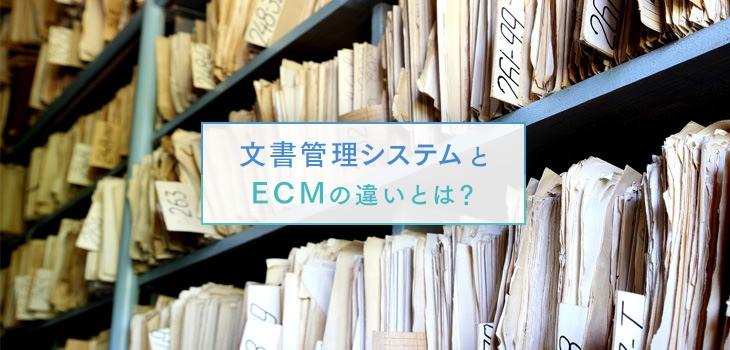 文書管理システムとECMとの違いは?