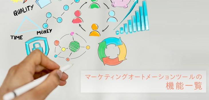 マーケティングオートメーションツール(MA)の機能一覧