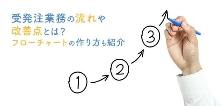 受発注の業務フローを4ステップで解説!チャート図の作り方も必見!