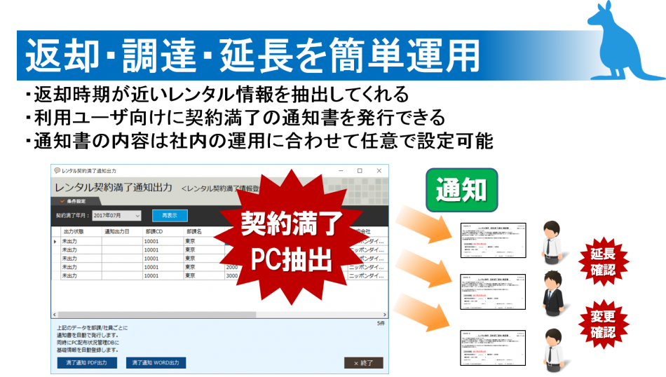 レンタル情報管理ツール製品詳細1
