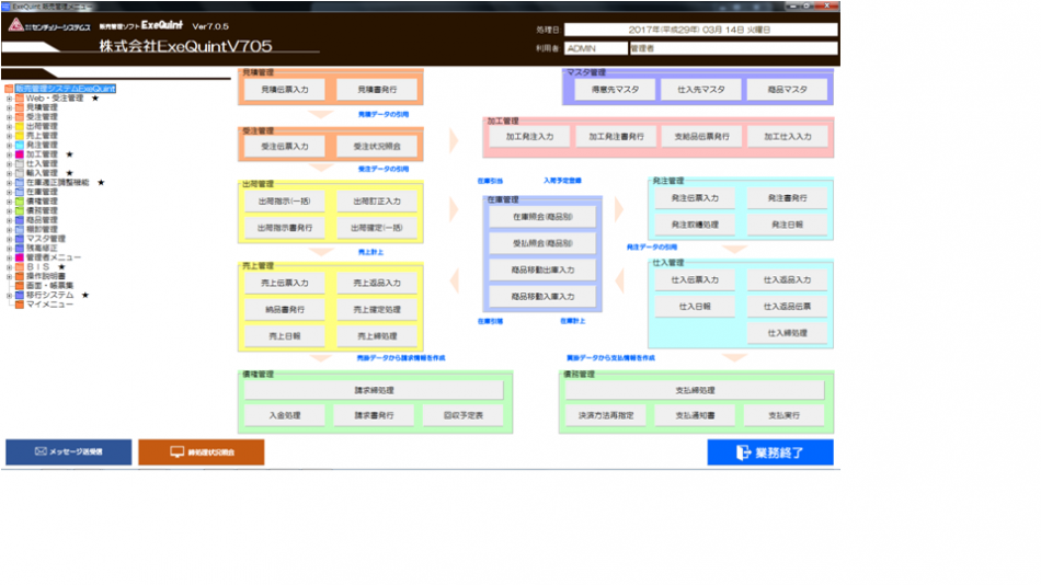 販売管理ソフト「ExeQuint(エグゼクイント)」製品詳細2