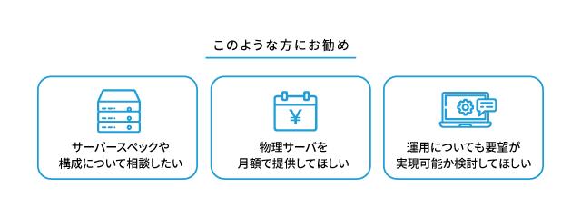 ホスティングサービス(専用物理サーバー)製品詳細2