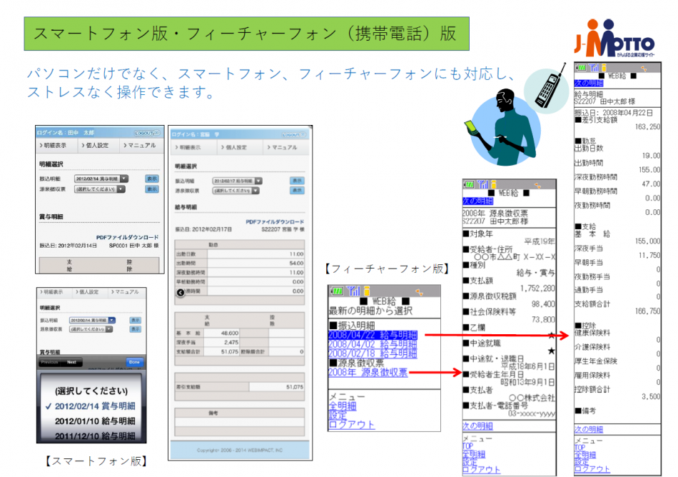 J-MOTTO Web給与明細サービス製品詳細2