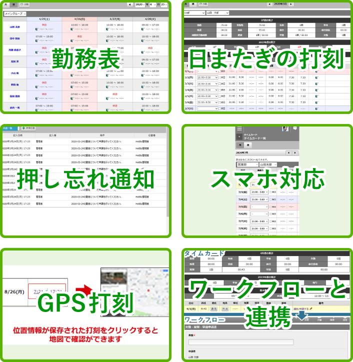 勤怠管理+グループウェアの【TimeBiz】1人72円~製品詳細2