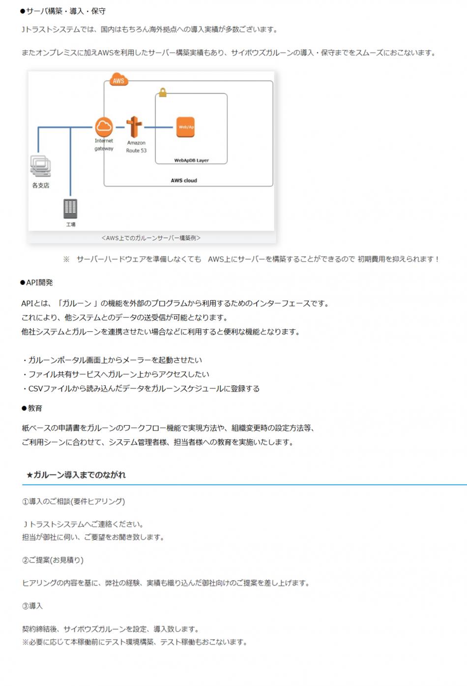 サイボウズガルーン製品詳細3