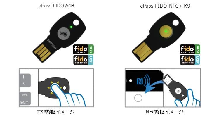 ePass FIDO A4B/ePass FIDO-NFC+ K9製品詳細1