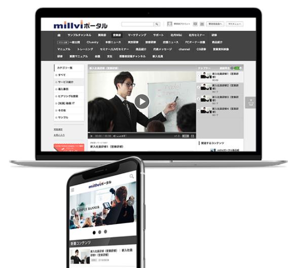 動画共有ポータルサイト「millviポータル」製品詳細1