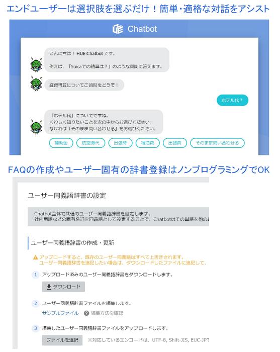 HUE Chatbot製品詳細2