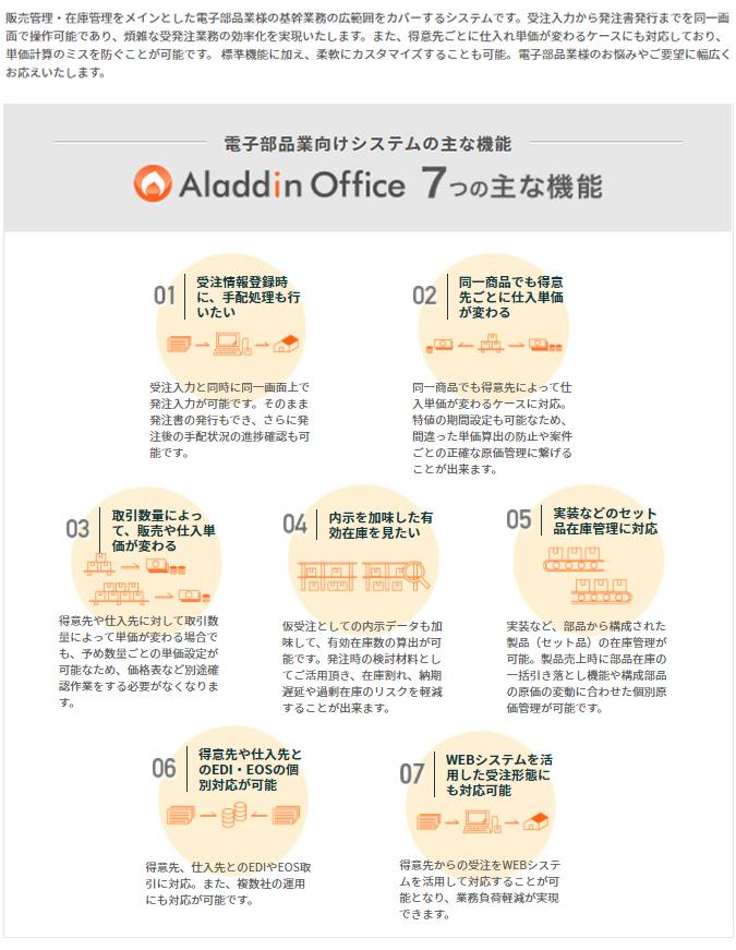 アラジンオフィス(印刷業向け)製品詳細1