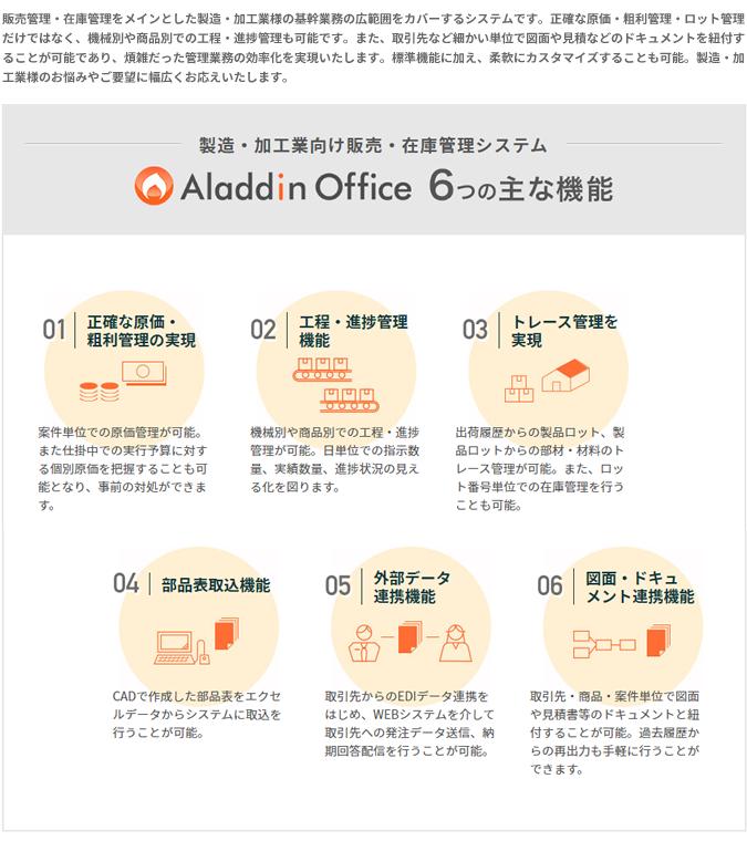アラジンオフィス(製造・加工業向け)製品詳細1
