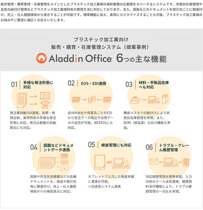 アラジンオフィス(プラスチック加工向け)製品詳細1