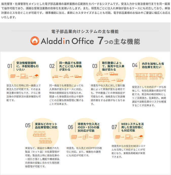 アラジンオフィス(電子部品業向け)製品詳細1