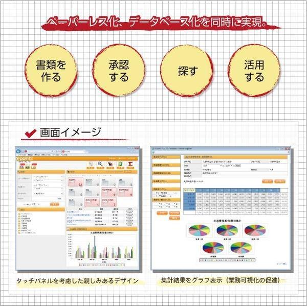 【国内シェアNo.1】低価格でわかりやすいワークフロー  X-point製品詳細1