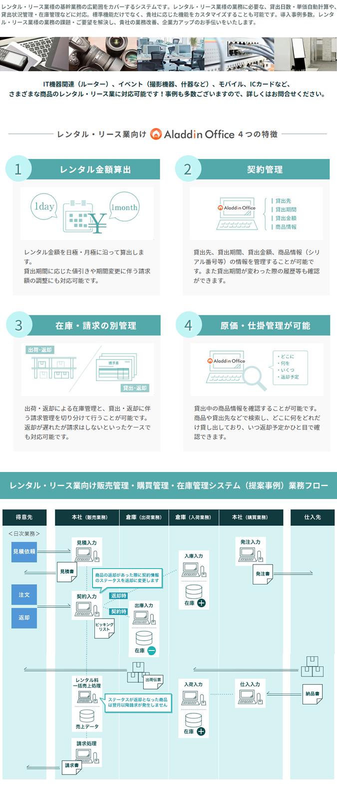 アラジンオフィス(レンタル・リース業向け)製品詳細1