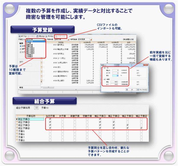 「Galileopt NX-Plus 財務大将(予算管理)」製品詳細2