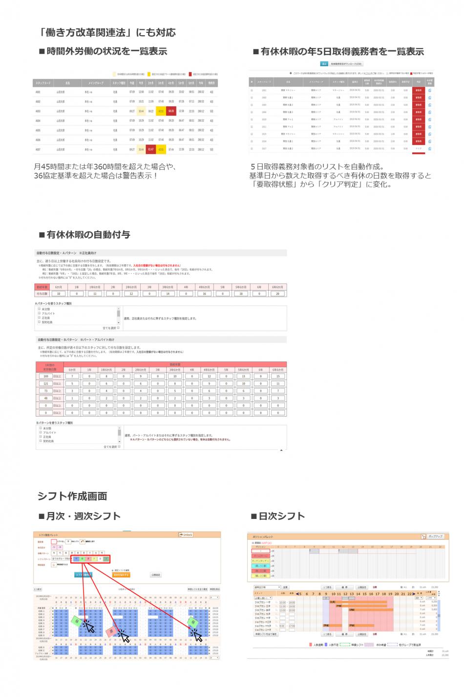 勤怠管理システム ジョブカン製品詳細2
