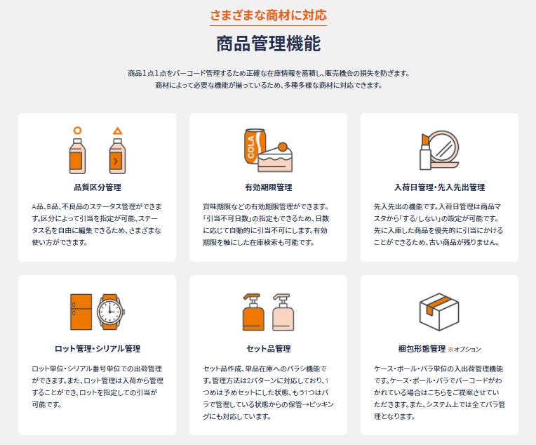 クラウドWMS ロジザードZERO製品詳細2