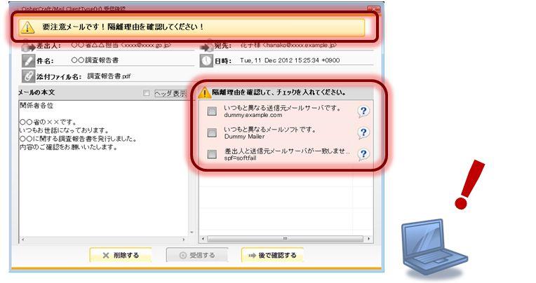 CipherCraft/Mail 標的型メール対策製品詳細2