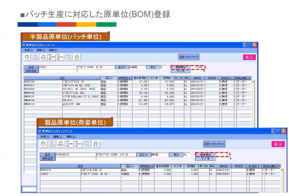 DS-mart ERP 生産管理システム製品詳細3