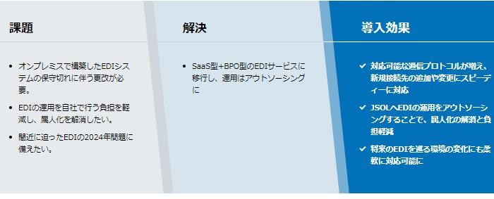 JSOL EDIサービス導入効果1