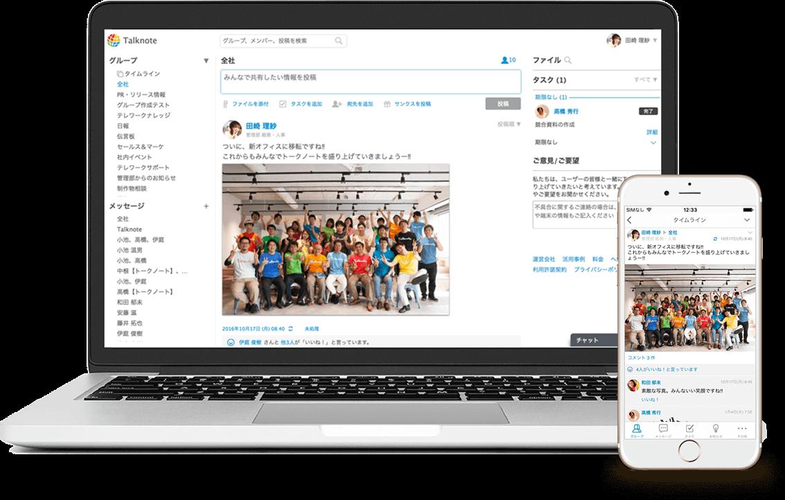 日々行う業務の中には、生産性の向上を阻む、多くの無駄が存在しています。Talknoteは、そのような無駄をなくし、組織に生産性をもたらし、本当に集中すべき業務に取り組める環境を提供します。