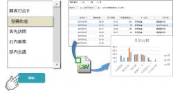 【生産性の可視化】ワンクリックで業務内容を登録