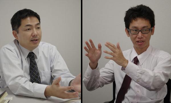 テレコン事業部計画課 課長の生駒氏(左)と主任の佐々木氏(右)