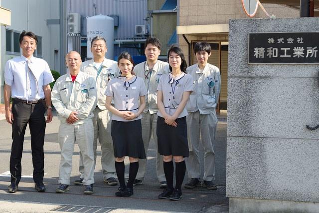 社員の皆さん(男性左から原社長、車川氏、中本氏、鳥山氏)